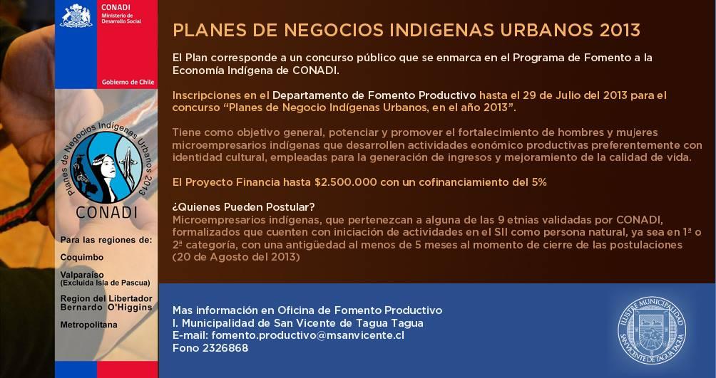 <!--:es-->Planes de Negocio Indígenas Urbanos, en el año 2013<!--:-->