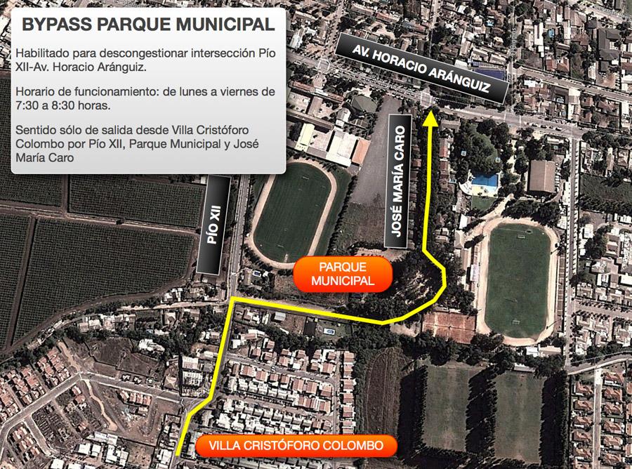 <!--:es-->Ya habilitamos un bypass en el sector de calle Pío XII<!--:-->
