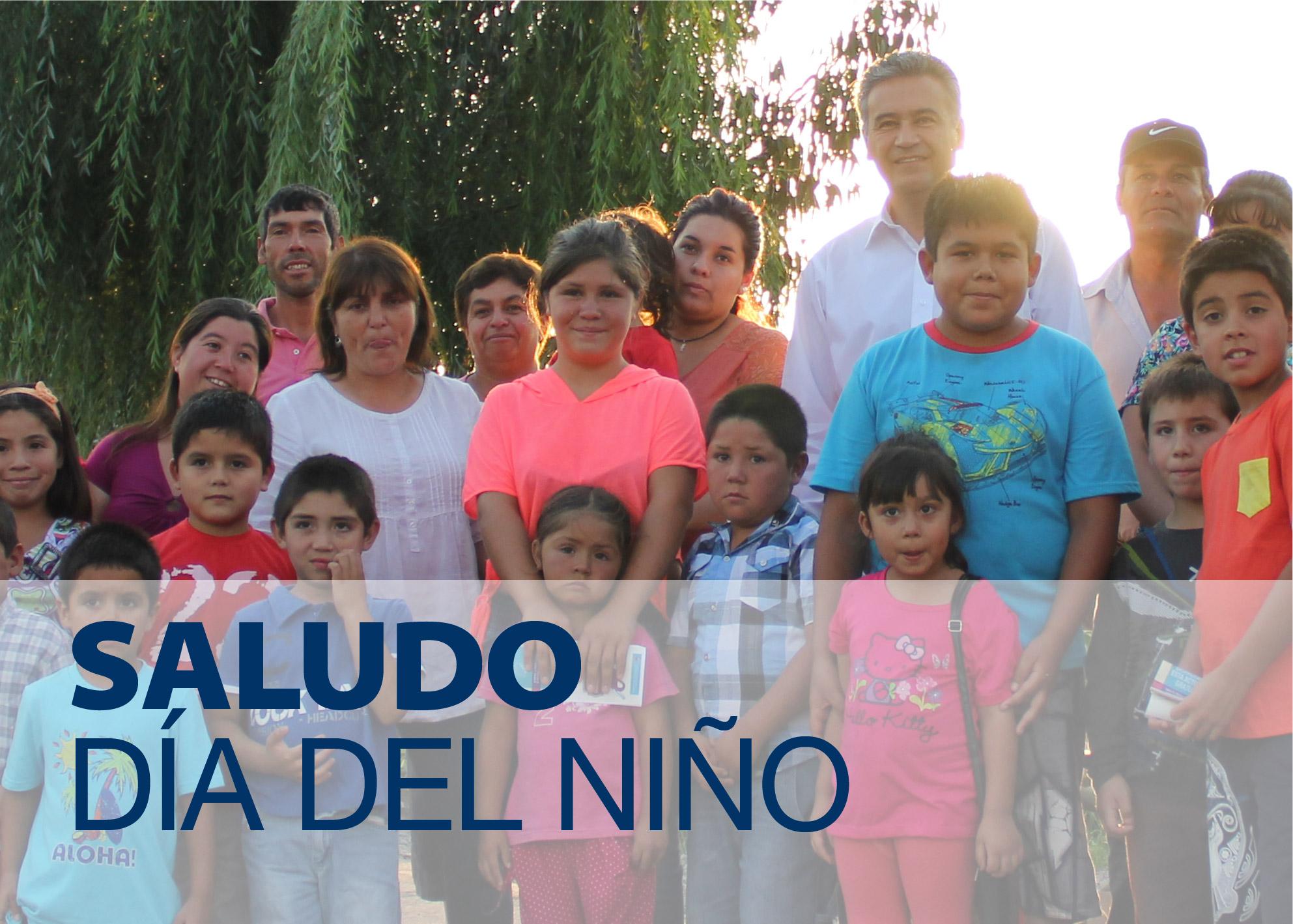 Jaime González Ramírez, Alcalde de nuestra comuna, saluda a todos los niños de San Vicente de Tagua Tagua en su día.