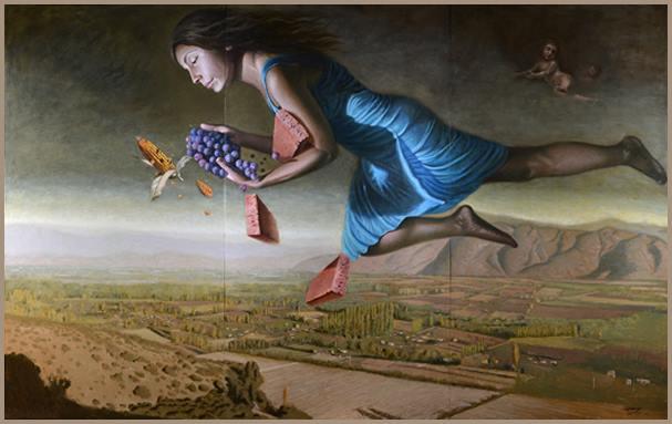 Vota por «Alegoría de Requegua» en Concurso «10 Pinturas Universales en Chile» por Rafael Ruz Valencia