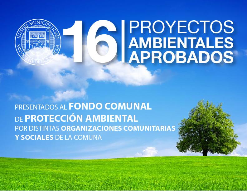 PROYECTOS AMBIENTALES APROBADOS POR EL CONCEJO MUNICIPAL EL 10/09/2015