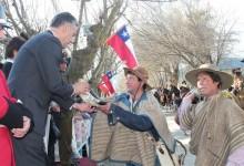 Acto Cívico Patriótico de Fiestas Patrias en la Plaza El Manzano