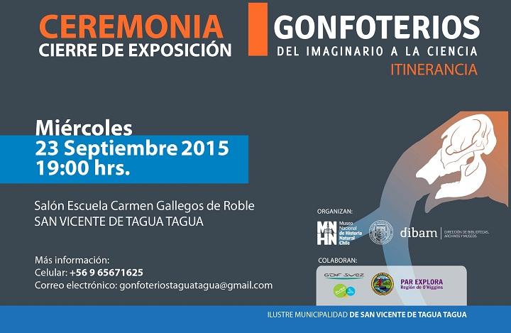 La Ceremonia de cierre de la Exposición Gonfoterios: Del Imaginario a La Ciencia