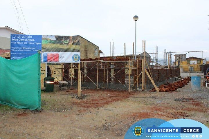 CONTINÚAN LOS TRABAJOS DE CONSTRUCCIÓN DE SEDE EN VILLA VALLES DEL TAGUA TAGUA