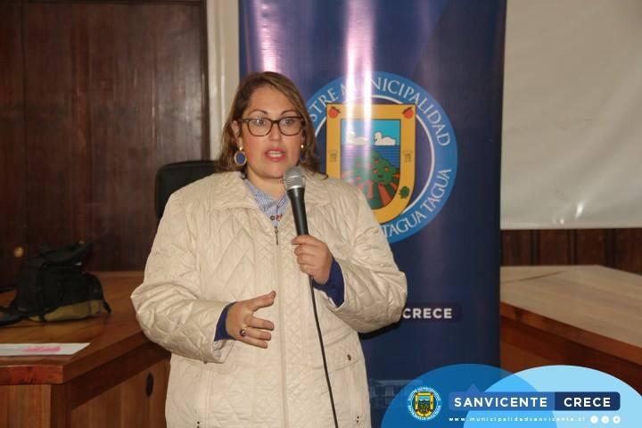Visita San Vicente la nueva Coordinadora Regional de SENAMA, Tamara Jofré Salinas