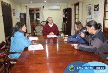 ALCALDE SE REÚNE JUNTO A LA DIRECTIVA DE LA AGRUPACIÓN DE ARTESANOS VALLES DEL TAGUA TAGUA