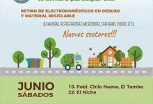 PLAN DE RECOLECCIÓN DE ELECTRODOMÉSTICOS EN DESUSO Y MATERIAL RECICLABLE 2019 EN POBLACIÓN CHILE NUEVO DEL TAMBO