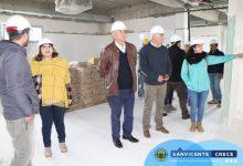 ALCALDE JAIME GONZÁLEZ VISITA LAS OBRAS DEL NUEVO SAR DE SAN VICENTE