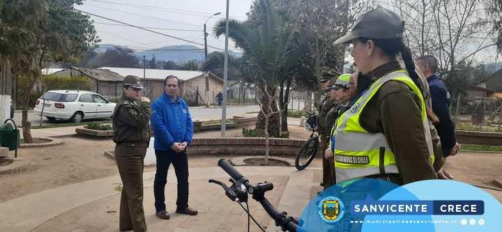 DIRECCIÓN DE SEGURIDAD PÚBLICA COMUNAL Y CARABINEROS SE UNEN A FAVOR DE LA SEGURIDAD EN SAN VICENTE