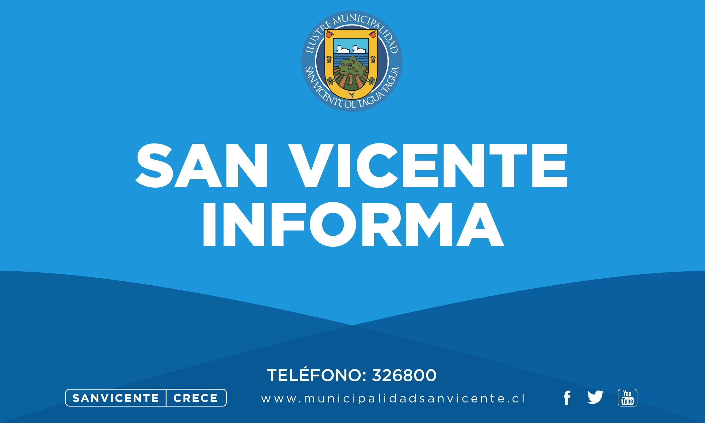 ATENCIÓN | CORTE DE SUMINISTRO DE AGUA POTABLE EN SAN VICENTE