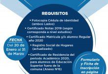 POSTULACIÓN Y RENOVACIÓN BECA MUNICIPAL Y ESTÍMULO PARA LA ENSEÑANZA SUPERIOR 2020