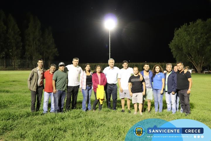 EL CAMPO DEPORTIVO DE TUNCA EL MOLINO YA CUENTA CON SU ANHELADA ILUMINACIÓN