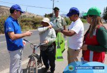 CAMPAÑA PREVENTIVA EN EL TAMBO CON CICLISTAS Y AUTOMOVILISTAS