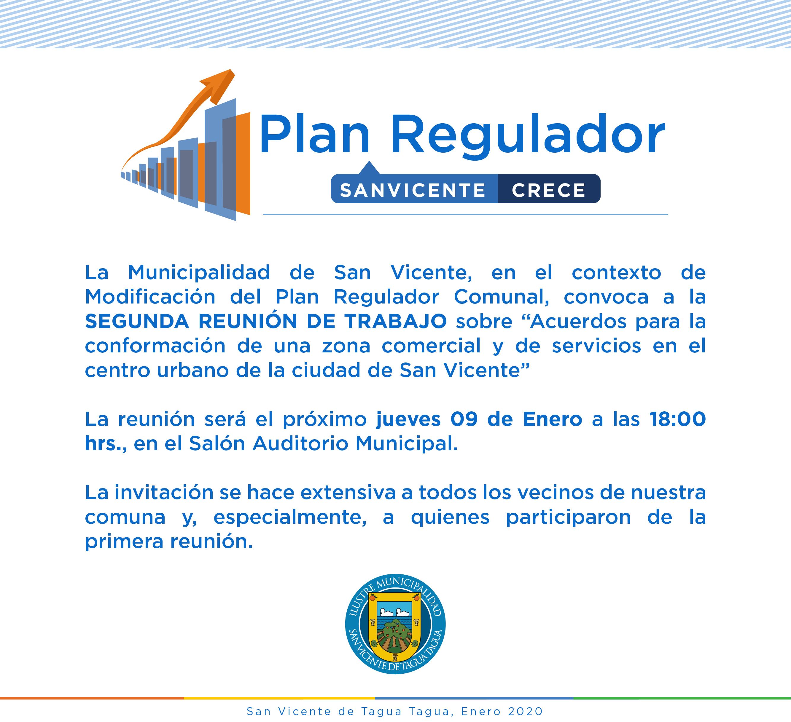 SEGUNDA REUNIÓN DE TRABAJO PLAN REGULADOR COMUNAL