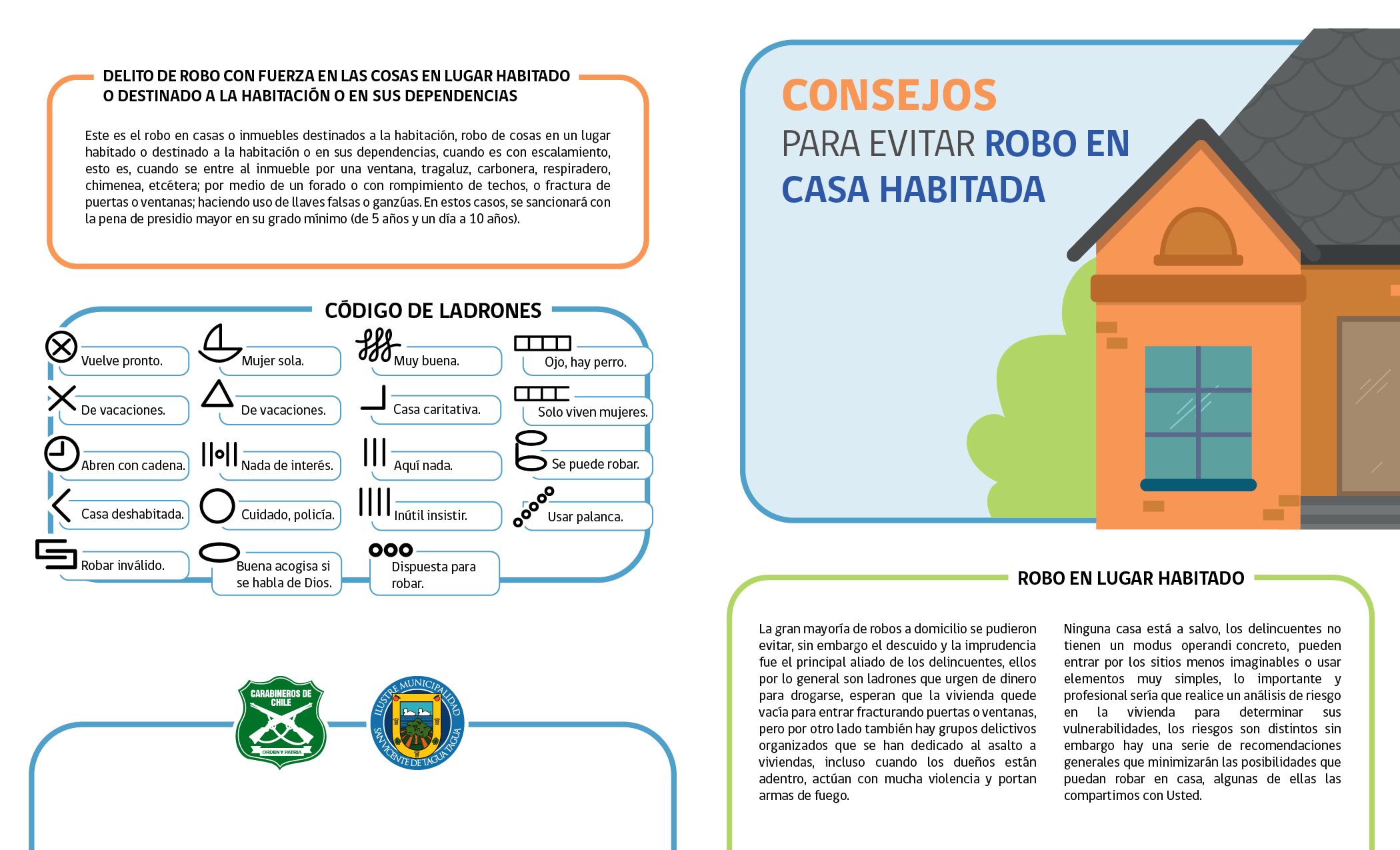 CAMPAÑA DIRECCIÓN COMUNAL DE SEGURIDAD PÚBLICA: CONSEJOS PARA EVITAR ROBO EN LUGAR HABITADO