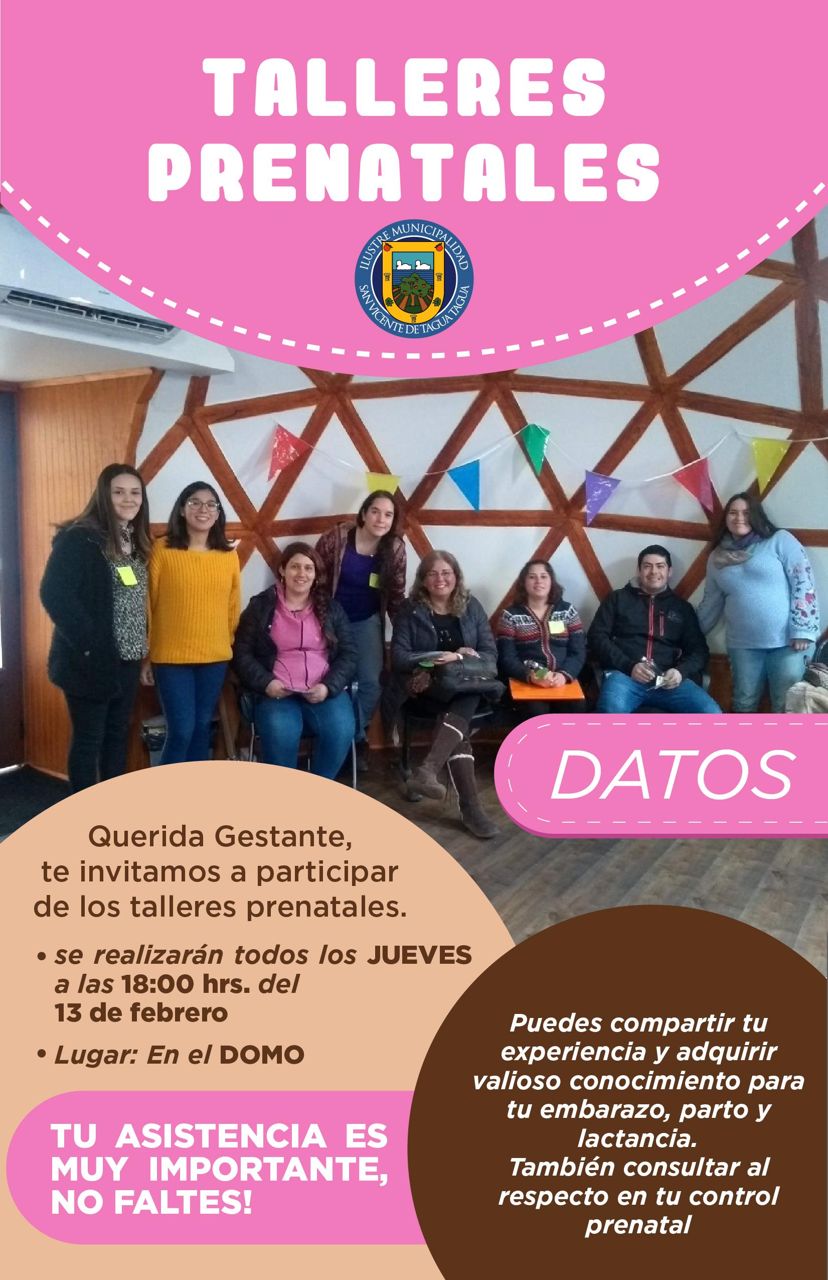 PARTICIPA DE LOS TALLERES PRENATALES 2020 EN SAN VICENTE