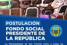 POSTULACIONES ABIERTAS FONDO SOCIAL PRESIDENTE DE LA REPÚBLICA