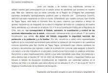 ALCALDE JAIME GONZÁLEZ Y UNIÓN COMUNAL DE JUNTAS DE VECINOS SOLICITAN CUARENTENA PREVENTIVA PARA SAN VICENTE