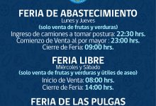 HORARIOS DE FUNCIONAMIENTO FERIAS DE SAN VICENTE‼️