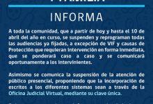 JUZGADO DE LETRAS Y FAMILIA INFORMA FUNCIONAMIENTO EN CONTINGENCIA DE CORONAVIRUS COVID-19