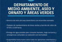 FUNCIONAMIENTO DEL DEPARTAMENTO DE MEDIO AMBIENTE, ASEO Y ORNATO Y ÁREAS VERDES