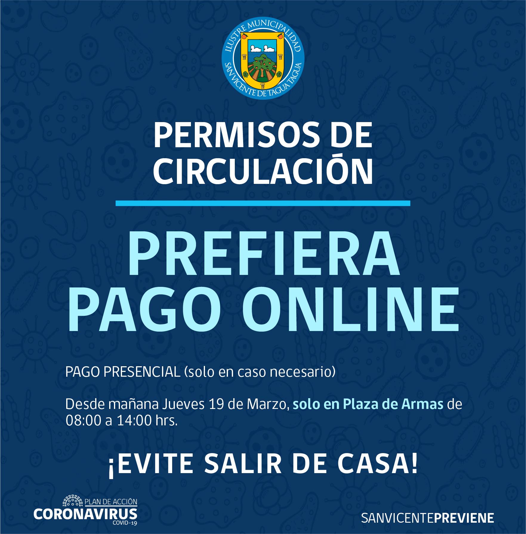 PAGO DE PERMISOS DE CIRCULACIÓN