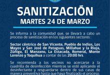 SE INFORMA SANITIZACIÓN PROGRAMADA PARA HOY MARTES 24 DE MARZO