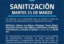 SE INFORMA SANITIZACIÓN PROGRAMADA PARA HOY MARTES 31 DE MARZO