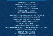 EVITE SALIR DE CASA: ATENCIONES MUNICIPALES VÍA TELEFÓNICA O CORREO ELECTRÓNICO