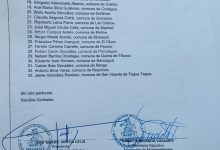 LA ASOCIACIÓN DE MUNICIPALIDADES DE LA REGIÓN DE O'HIGGINS (MURO'H), CON LA SUSCRIPCIÓN DE LOS ALCALDES DE LAS 33 COMUNAS, ENTRE ELLOS EL ALCALDE DE SAN VICENTE, JAIME GONZÁLEZ RAMÍREZ, SOLICITAN AL INTENDENTE REGIONAL, JUAN MASFERRER, DECRETAR CUARENTENA OBLIGATORIA REGIONAL POR CORONAVIRUS COVID-19
