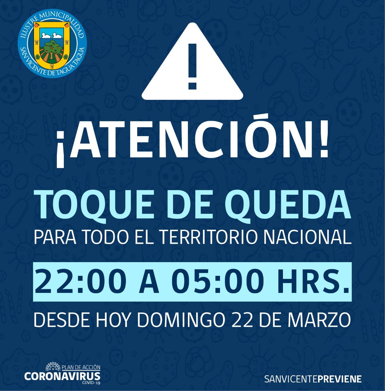 TOQUE DE QUEDA EN TODO EL TERRITORIO NACIONAL POR CORONAVIRUS COVID-19