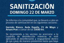 SE INFORMA SANITIZACIÓN EN CENTRO DE SAN VICENTE