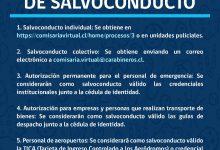 TOQUE DE QUEDA | TIPOS DE SOLICITUDES DE SALVOCONDUCTO