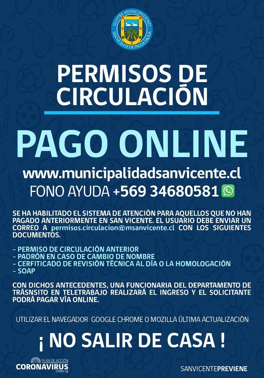 NUEVA ACTUALIZACIÓN PAGO DE PERMISOS DE CIRCULACIÓN