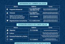 ACTUALIZACIÓN | CONTACTOS TELEFÓNICOS Y CORREOS ELECTRÓNICOS DE LAS DISTINTAS OFICINAS DE LA DIRECCIÓN DE DESARROLLO COMUNITARIO