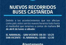 NUEVOS RECORRIDOS BUSES CASTAÑEDA POR COVID-19