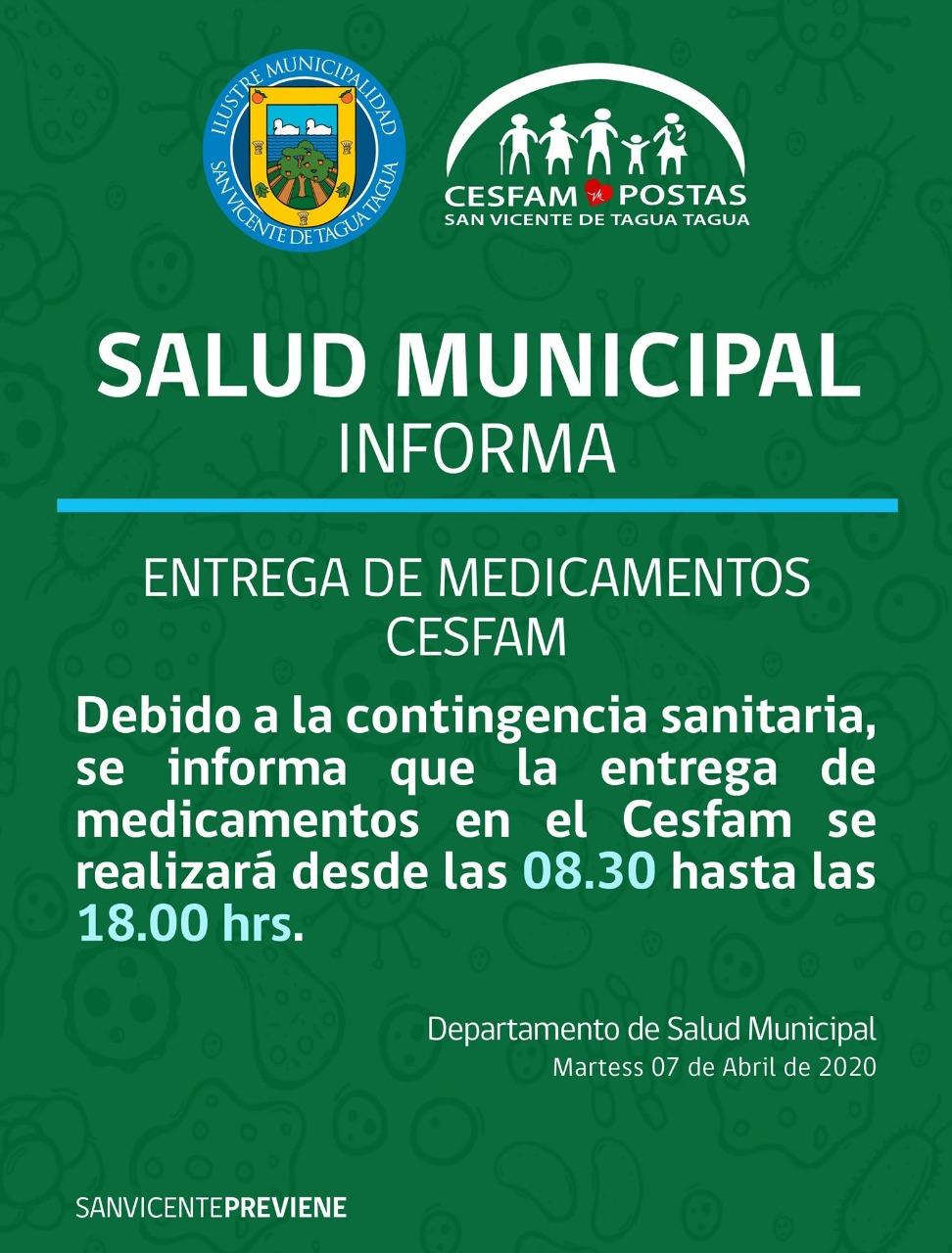 SALUD MUNICIPAL INFORMA | ENTREGA DE MEDICAMENTOS CESFAM