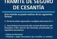 TRÁMITE DE SEGURO DE CESANTÍA