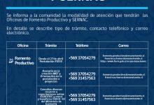 POSTULACIÓN FOSIS 2020 Y OTROS TRÁMITES | ATENCIÓN DE OFICINAS DE FOMENTO PRODUCTIVO Y SERNAC
