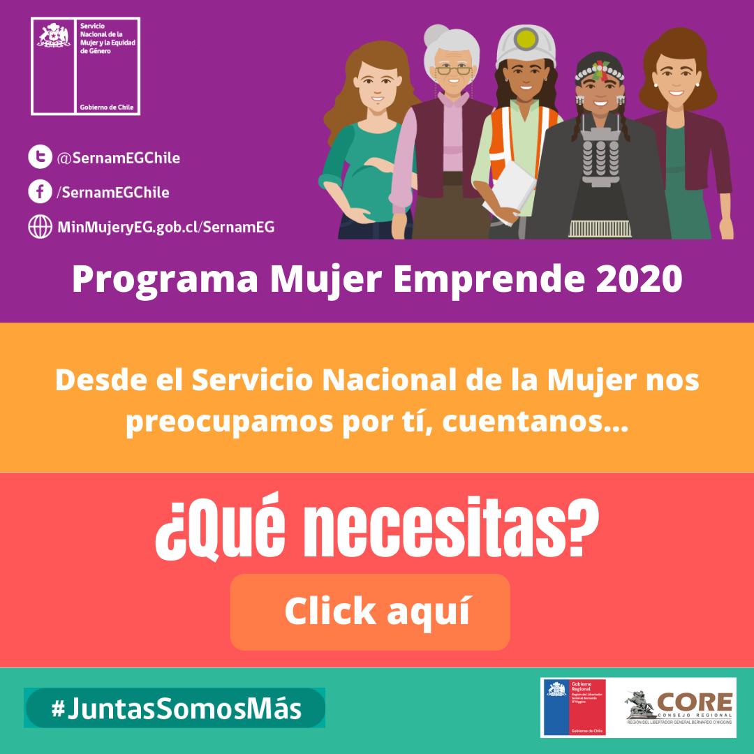 SÚMATE AL PROGRAMA MUJER EMPPRENDE 2020