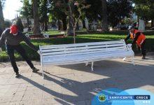 RETIRO DE BANCAS EN LA PLAZA DE ARMAS DE SAN VICENTE COMO MEDIDA PREVENTIVA POR COVID-19