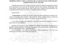 INFORMACIÓN IMPORTANTE CON RESPECTO A PERMISOS DE CIRCULACIÓN, REVISIONES TÉCNICAS Y LICENCIAS DE CONDUCIR