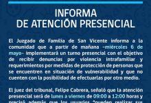 JUZGADO DE LETRAS Y FAMILIA INFORMA ATENCIÓN PRESENCIAL