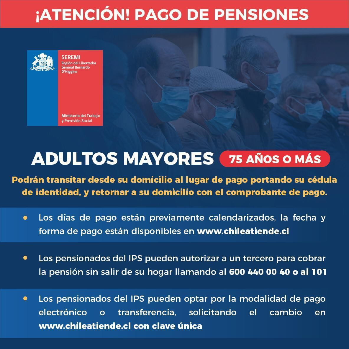 ¡ATENCIÓN! PAGO DE PENSIONES ADULTOS MAYORES
