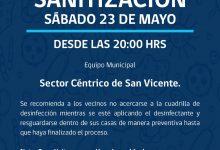 SE INFORMA SANITIZACIÓN PROGRAMADA PARA HOY SÁBADO 23 DE MAYO‼️📌