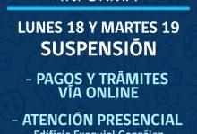 SUSPENSIÓN DE PAGOS Y TRÁMITES VÍA ONLINE POR MANTENCIÓN DE SERVIDORES MUNICIPALES‼️