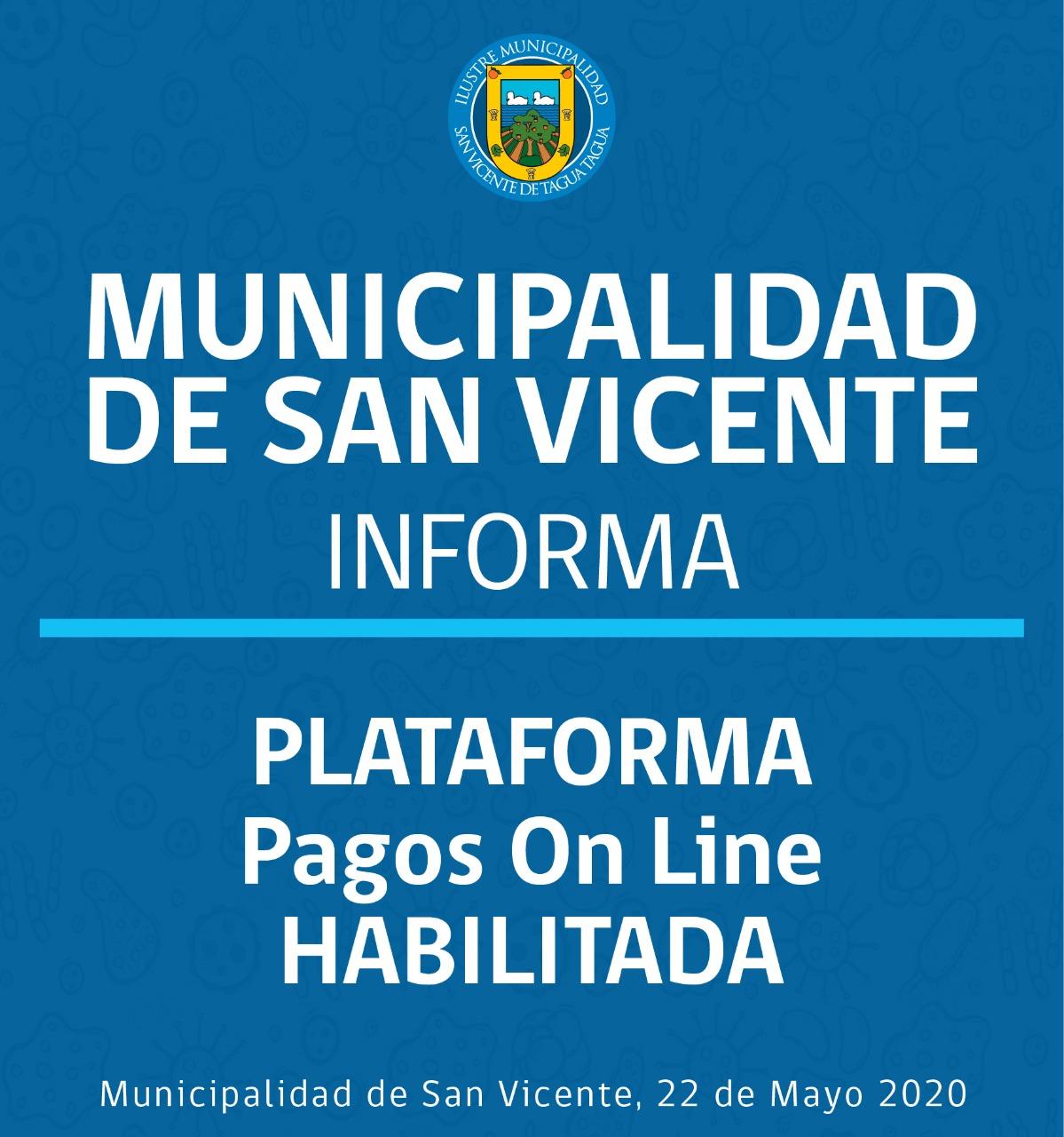 PLATAFORMA DE PAGOS Y TRÁMITES ONLINE HABILITADA‼️