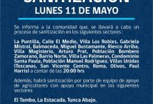 SE INFORMA SANITIZACIÓN PROGRAMADA PARA HOY LUNES 11 DE MAYO‼️📌