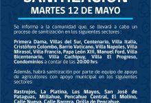 SE INFORMA SANITIZACIÓN PROGRAMADA PARA HOY MARTES 12 DE MAYO‼️📌