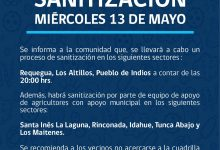 SE INFORMA SANITIZACIÓN PROGRAMADA PARA HOY MIÉRCOLES 13 DE MAYO‼️📌